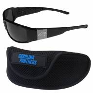 Carolina Panthers Chrome Wrap Sunglasses & Sports Case