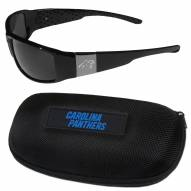 Carolina Panthers Chrome Wrap Sunglasses & Zippered Carrying Case