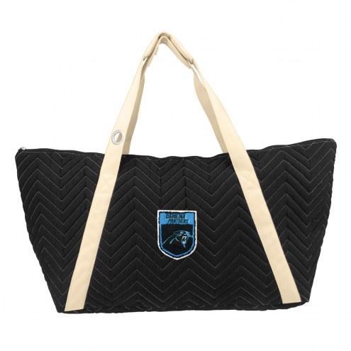 Carolina Panthers Crest Chevron Weekender Bag