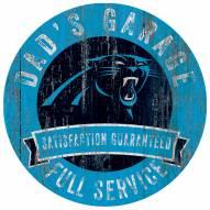 Carolina Panthers Dad's Garage Sign