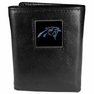 Carolina Panthers Deluxe Leather Tri-fold Wallet in Gift Box