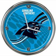 Carolina Panthers Dynamic Chrome Clock