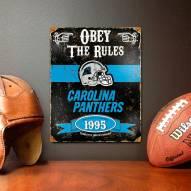 Carolina Panthers Embossed Metal Sign