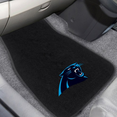 Carolina Panthers Embroidered Car Mats