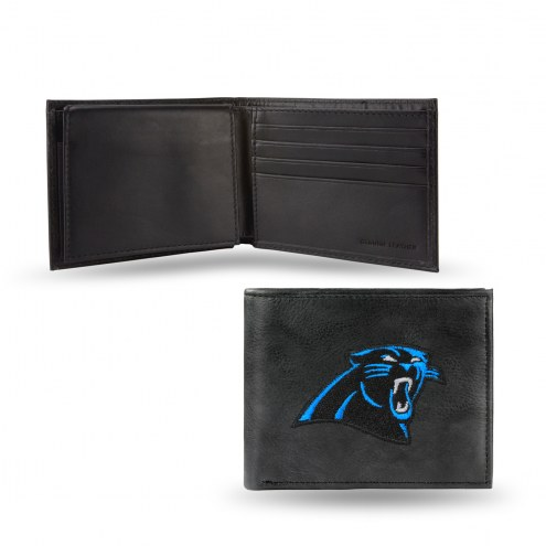 Carolina Panthers Embroidered Leather Billfold Wallet