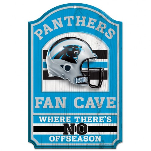 Carolina Panthers Fan Cave Wood Sign