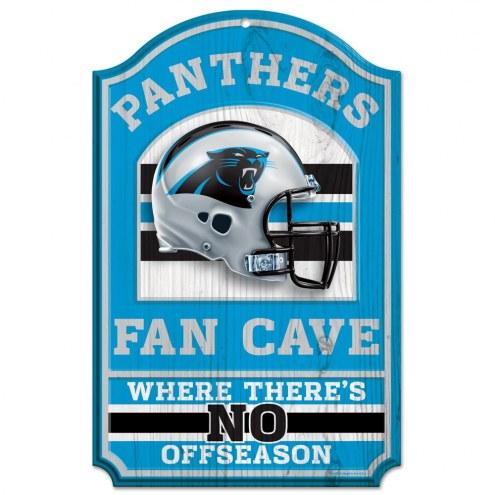 Carolina Panthers Fan Cave Wood Sign