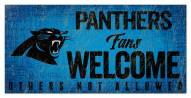 Carolina Panthers Fans Welcome Sign