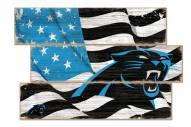 Carolina Panthers Flag 3 Plank Sign