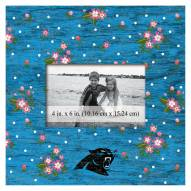 """Carolina Panthers Floral 10"""" x 10"""" Picture Frame"""