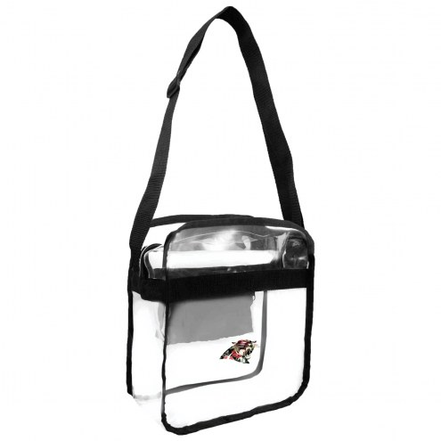 Carolina Panthers Floral Clear Crossbody Carry-All Bag