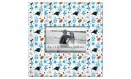 "Carolina Panthers Floral Pattern 10"" x 10"" Picture Frame"
