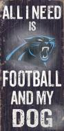 Carolina Panthers Football & Dog Wood Sign