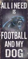 Carolina Panthers Football & Dog Wood Sign