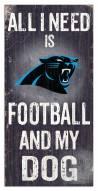 Carolina Panthers Football & My Dog Sign