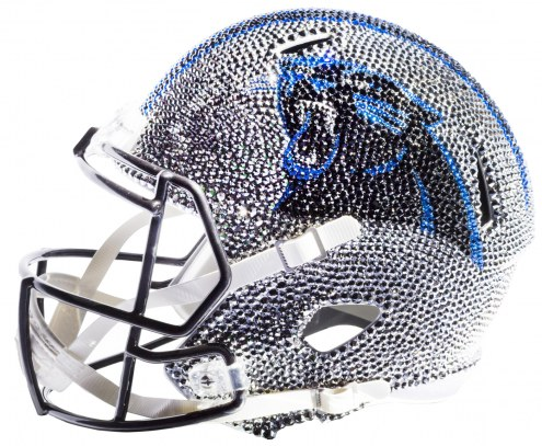 Carolina Panthers Full Size Swarovski Crystal Football Helmet