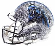 Carolina Panthers Full Size Swarovski Crystal Football Helmet