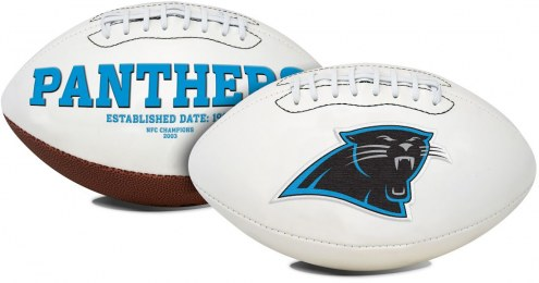 Carolina Panthers Full Size Embroidered Signature Series Football