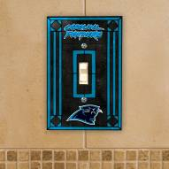 Carolina Panthers Glass Single Light Switch Plate Cover