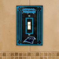 Carolina Panthers Glass Single Light Switch Plate Cover