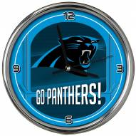 Carolina Panthers Go Team Chrome Clock