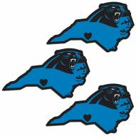 Carolina Panthers Home State Decal - 3 Pack