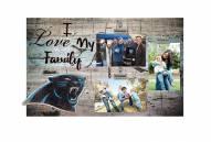Carolina Panthers I Love My Family Clip Frame