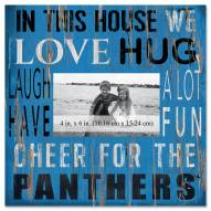 """Carolina Panthers In This House 10"""" x 10"""" Picture Frame"""