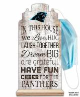 Carolina Panthers In This House Mask Holder