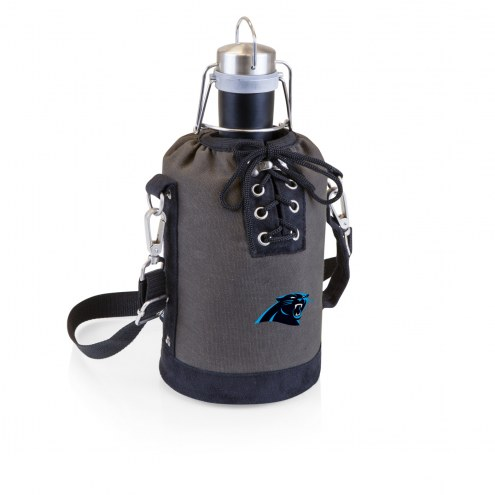 Carolina Panthers Insulated Growler Tote with 64 oz. Stainless Steel Growler