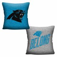 Carolina Panthers Invert Woven Pillow