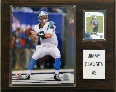 "Carolina Panthers Jimmy Clausen 12 x 15"" Player Plaque"