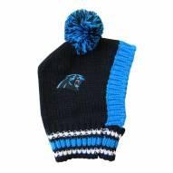 Carolina Panthers Knit Dog Hat