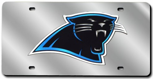 Carolina Panthers Laser Cut License Plate