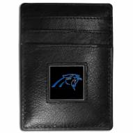 Carolina Panthers Leather Money Clip/Cardholder in Gift Box