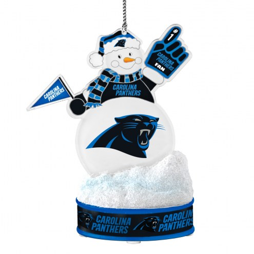Carolina Panthers LED Snowman Ornament