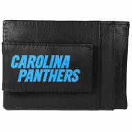 Carolina Panthers Logo Leather Cash and Cardholder