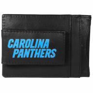 Carolina Panthers Logo Leather Cash and Cardholder