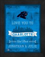 Carolina Panthers Love You to and Back Framed Print