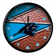 Carolina Panthers Football Clock