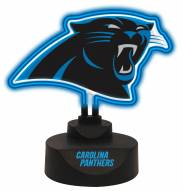 Carolina Panthers Team Logo Neon Light