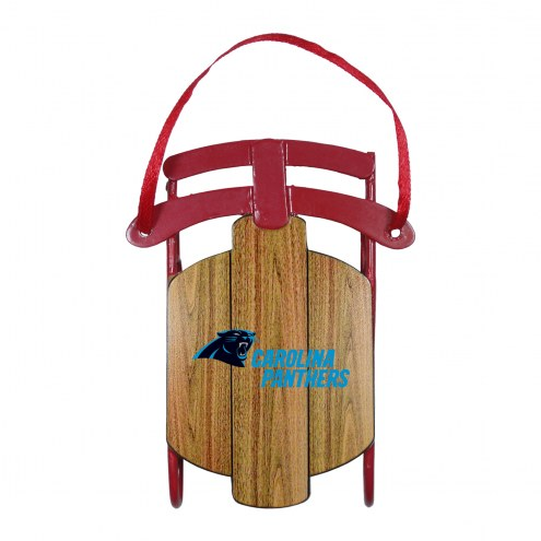 Carolina Panthers Metal Sled Tree Ornament
