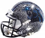 Carolina Panthers Mini Swarovski Crystal Football Helmet