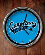 Carolina Panthers NFL Chrome Wall Clock