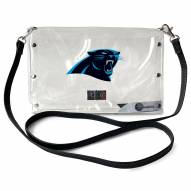Carolina Panthers Clear Envelope Purse