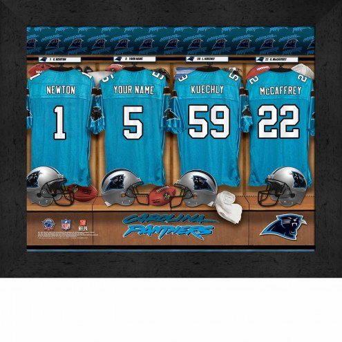 Carolina Panthers NFL Personalized Locker Room 11 x 14 Framed Photograph