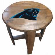 Carolina Panthers Oak Barrel Table