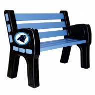 Carolina Panthers Park Bench