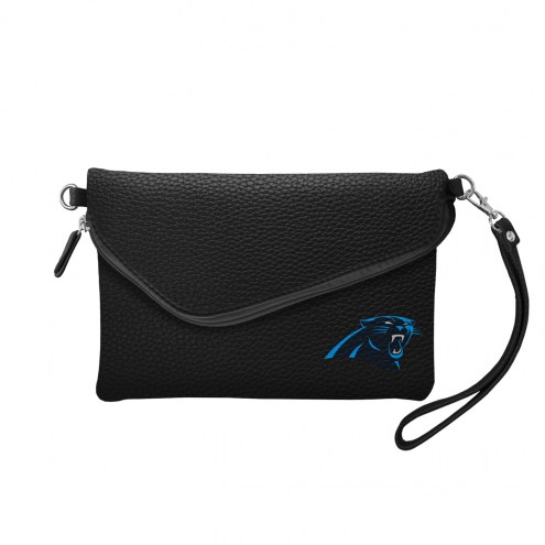Carolina Panthers Pebble Fold Over Purse