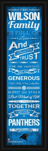 Carolina Panthers Personalized Family Cheer Framed Art